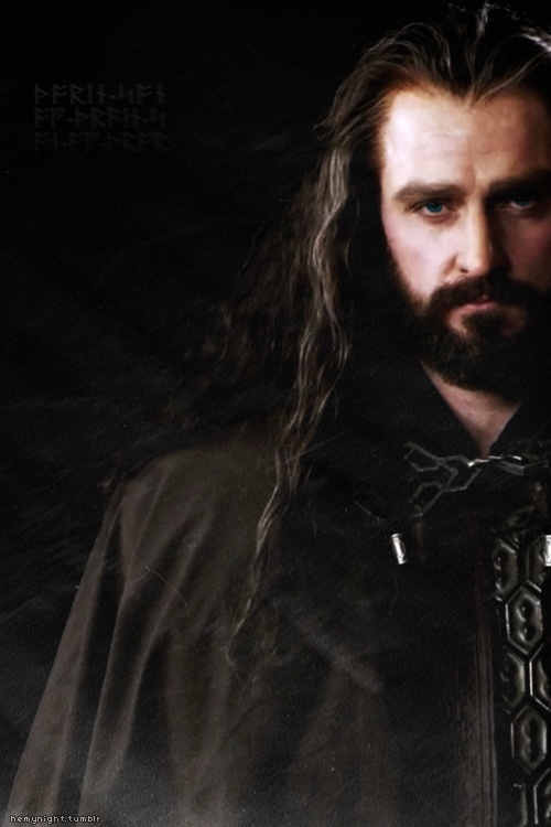 THORIN ... in the beginning Actor Richard Armitage in The Hobbit: The Desolation of Smaug Movie (2013)