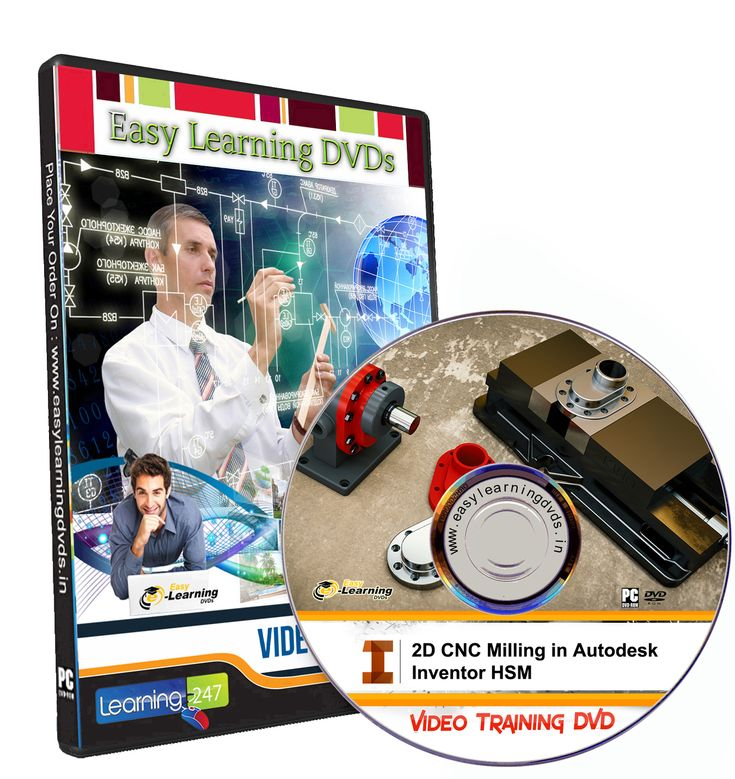 2D CNC Milling in Autodesk Inventor HSM Video Training Tutorial Course DVD
