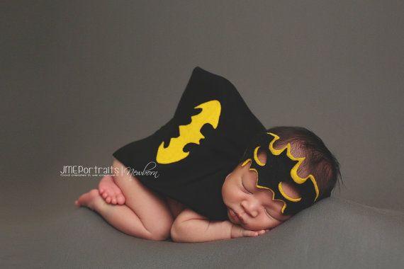 Newborn Superhero Batman Costume for Newborn baby boy - Photography Prop - Batman - DC Comics - Halloween, baby shower gift, choose your set