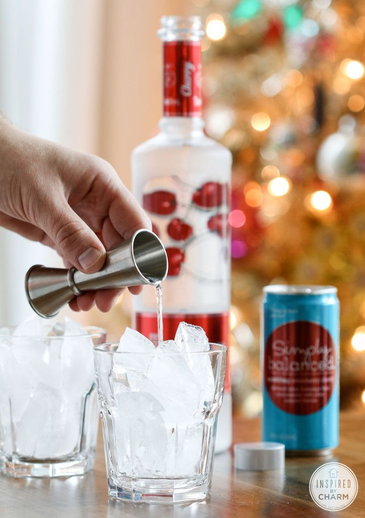 Cherry Vodka Sparkler | Inspired by Charm #IBCholiday #MyKindofHoliday