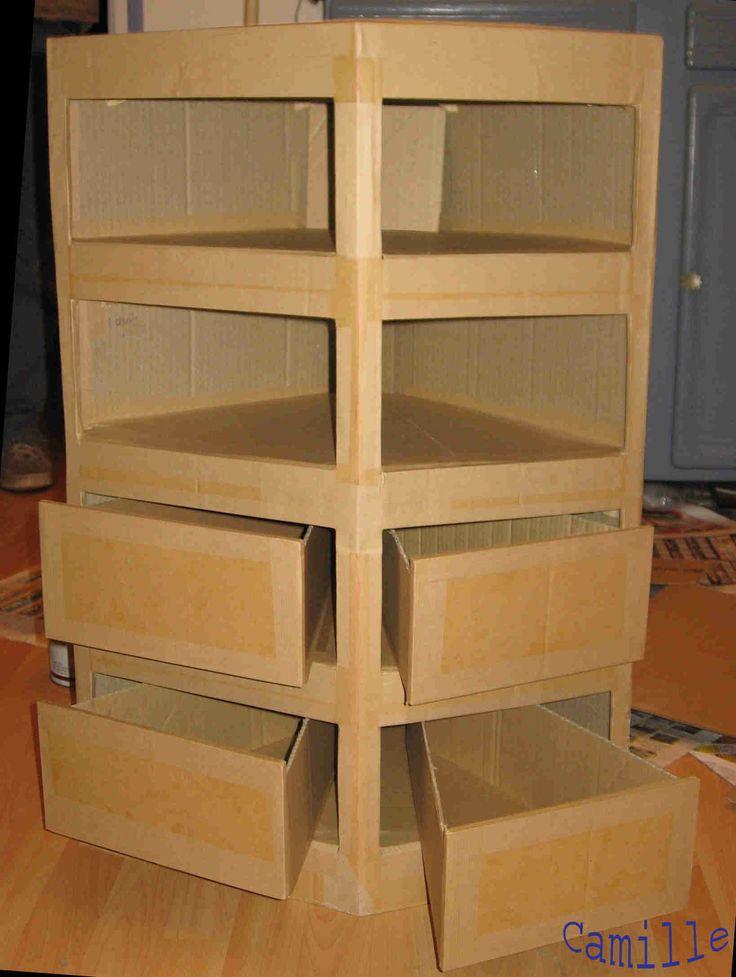 Comment cr er un meuble en carton craftroom pinterest diy cardboard furniture cardboard - Imagenes de muebles ...