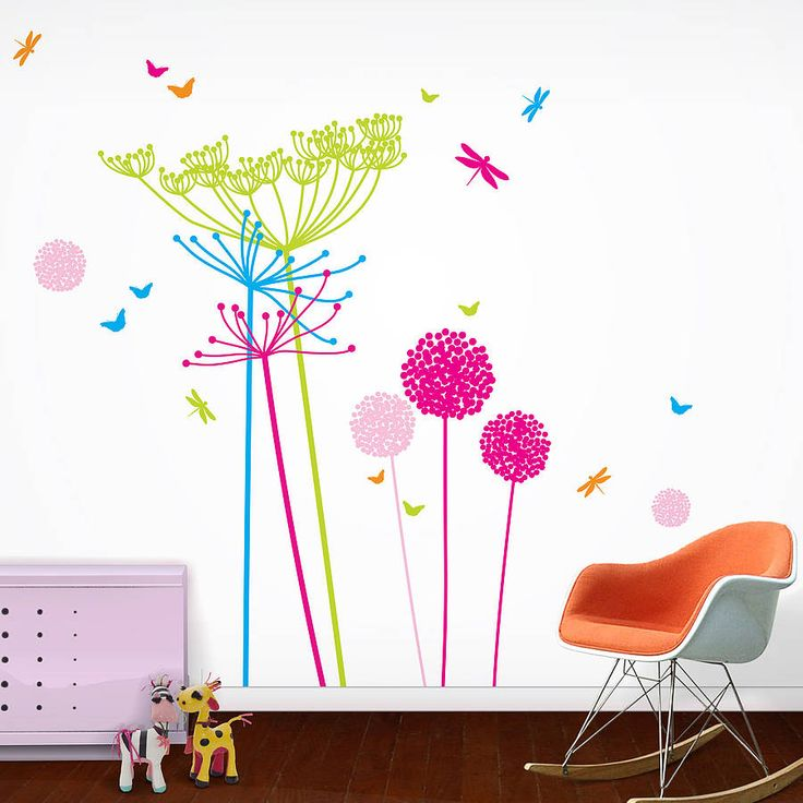 Fluoro Dandelions Wall Stickers from notonthehighstreet.com