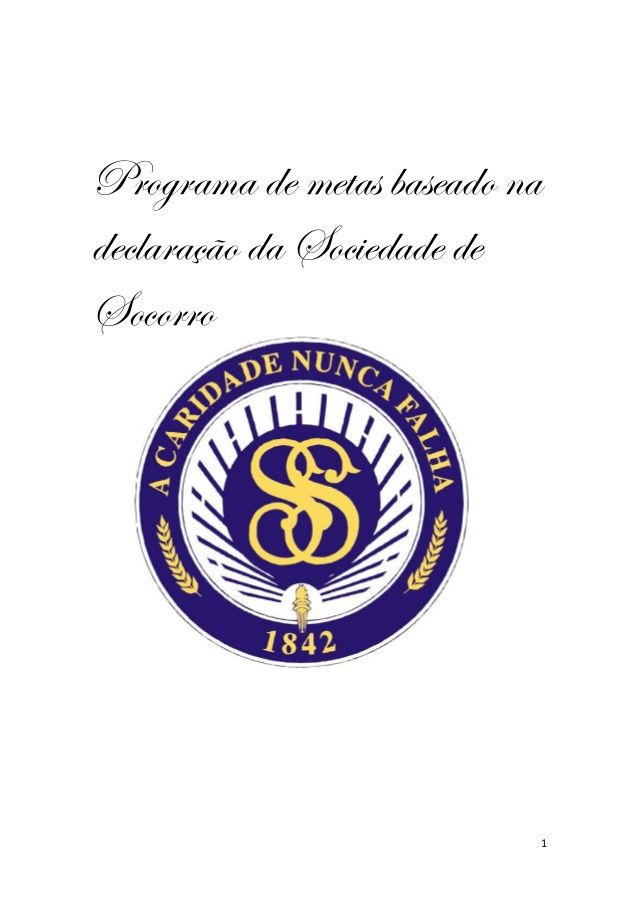 Programa de metas baseado na Declaração da Sociedade de Socorro