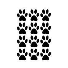9 colori 12 stampe zampa di cane wall sticker per soggiorno, casalinghi, mobili, auto per porte e finestre, computer portatile, kayak decorazione della decalcomania del vinile  (China (Mainland))
