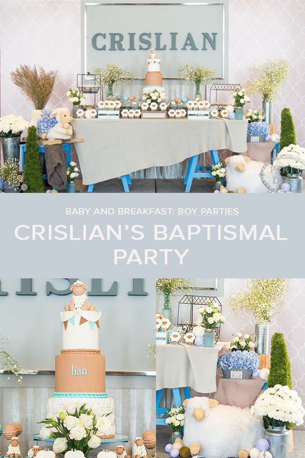 A Little Lamb Themed Baptismal Party for Crislian | Baptism Party | Boy Party | Little Lamb | White | Blue http://babyandbreakfast.ph/2017/06/06/a-little-lamb-themed-baptismal-party-for-crislian/