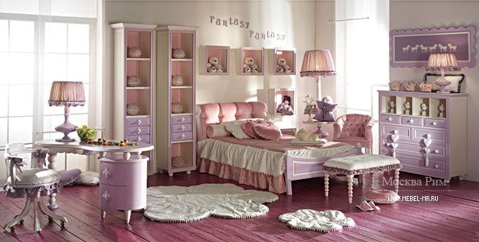 Pink bedroom Fantasy for little miss bonbon by Ebanisteria Bacci S.r.l., Italy Розовая спальня Fantasy для вашей малышки-конфетки от итальянского производителя Ebanisteria Bacci S.r.l.  #designinterior #interior #decor #mebelmr