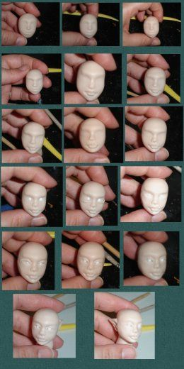 Doll Head Polymer Clay Tutorial: Polymer Clay Dolls, Bjd Et All Tutorials, Polymer Clay Tutorials, Doll Tutorials, Doll Diy Crafts, Tutorial Sculpting Polymer, Cake Tutorials, Crafts Clay, Photo