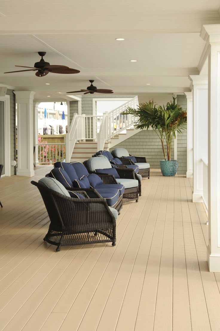 We've got you covered! Breathe some fresh air into your outdoor space with AZEK Decking. Shown here in Brownstone, this AZEK Deck looks beautiful and is designed to stand up to years of weather, spills and even the grandkids. Hunting for more outdoor living ideas? Visit our gallery for more inspiration.
