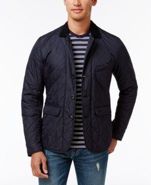 Barbour Men's Diamond-Quilted Jacket - Blue XL