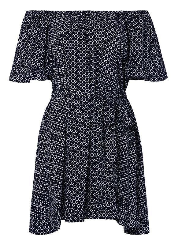 Womens Dresses & Tunics | Off Shoulder Printed Dress | Seed Heritage
