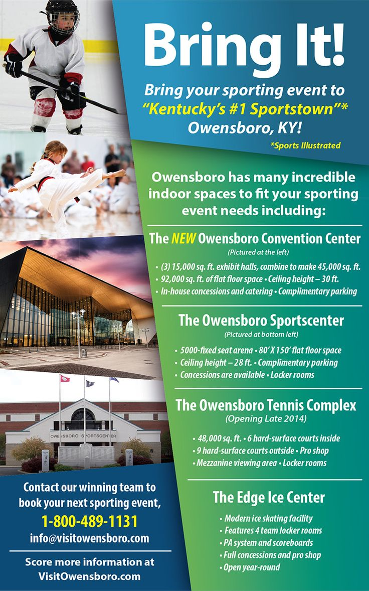 Ad for the Owensboro Convention Center. Published in a