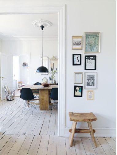 white floors via Inspiring Home