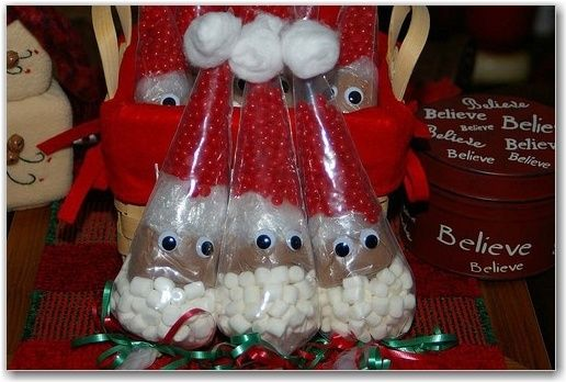 Snowman soup hot chocolate for Christmas classroom gifts ... |Hot Chocolate Treat Bags