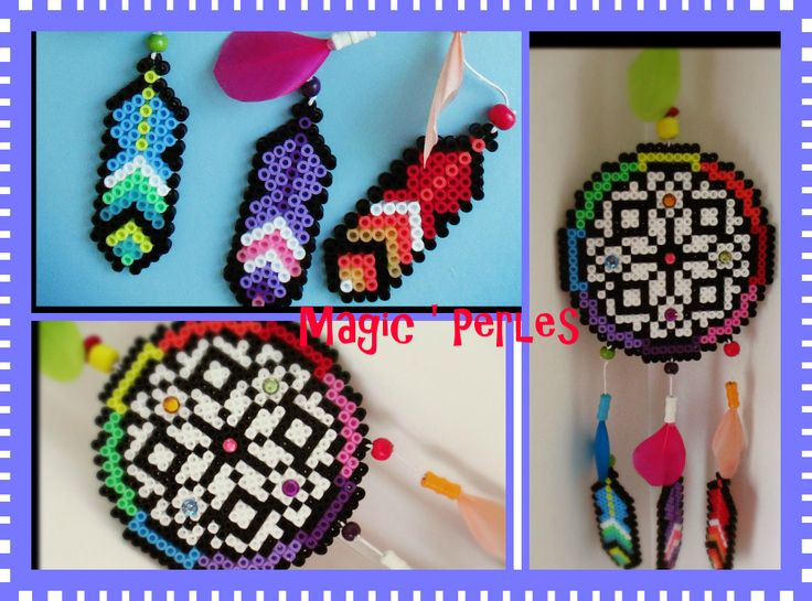 dreamcatcher arc en ciel hama beads by magic perles attrape reve pinterest arcs en ciel. Black Bedroom Furniture Sets. Home Design Ideas