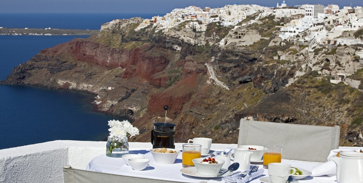 Breakfast @ Ikies  IKIES, Oia, Santorini, Greece