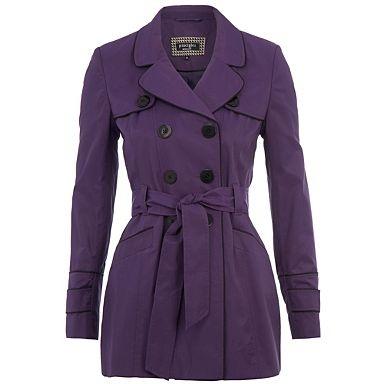 Purple short trench coat - Macs & trench coats - Coats & jackets - Women -