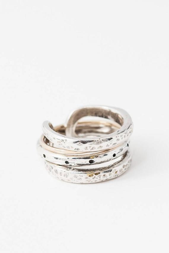 Sterling Silver Spinner Ring Handmade Fidget Ring Minimalist