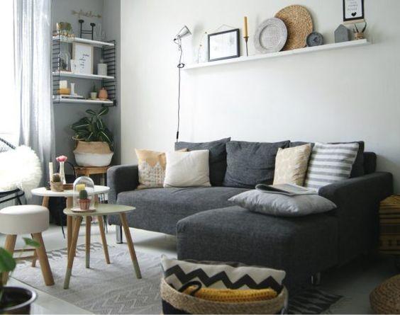 25 beste ideen over Kleine woonkamers op Pinterest