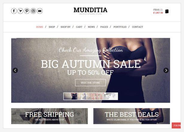 WordPress - Munditia - Responsive Ecommerce Wordpress Theme   ThemeForest
