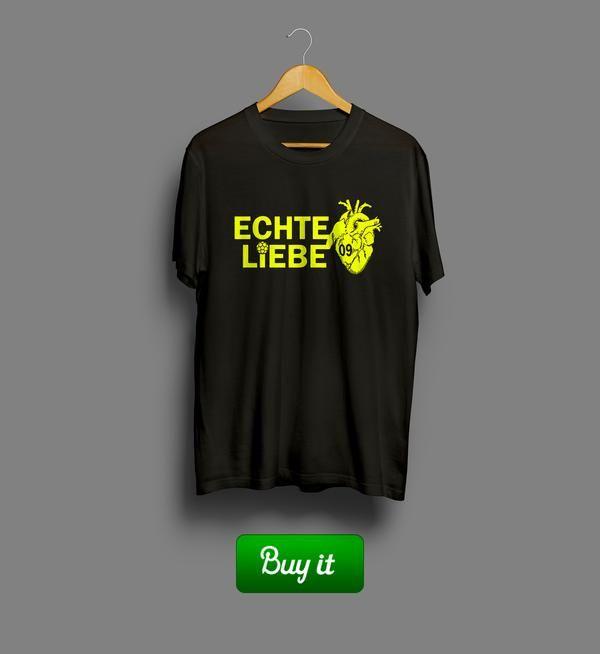 Echte liebe   #Боруссия #Дортмунд #BV #Borussia #Dortmund #Die #Schwarzgelben #Football #Club  #tshirt #футболки #футбол #logo