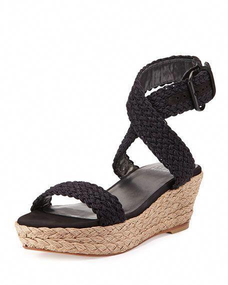 90241517359 Stuart Weitzman Alex Crochet Wedge Sandal