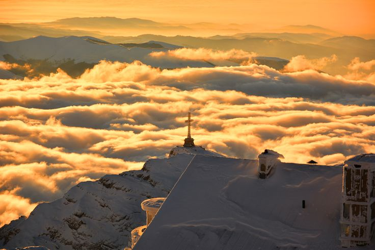 #Carpathian Mountains #Romania, sunny weather above the clouds. #HappyHolidays