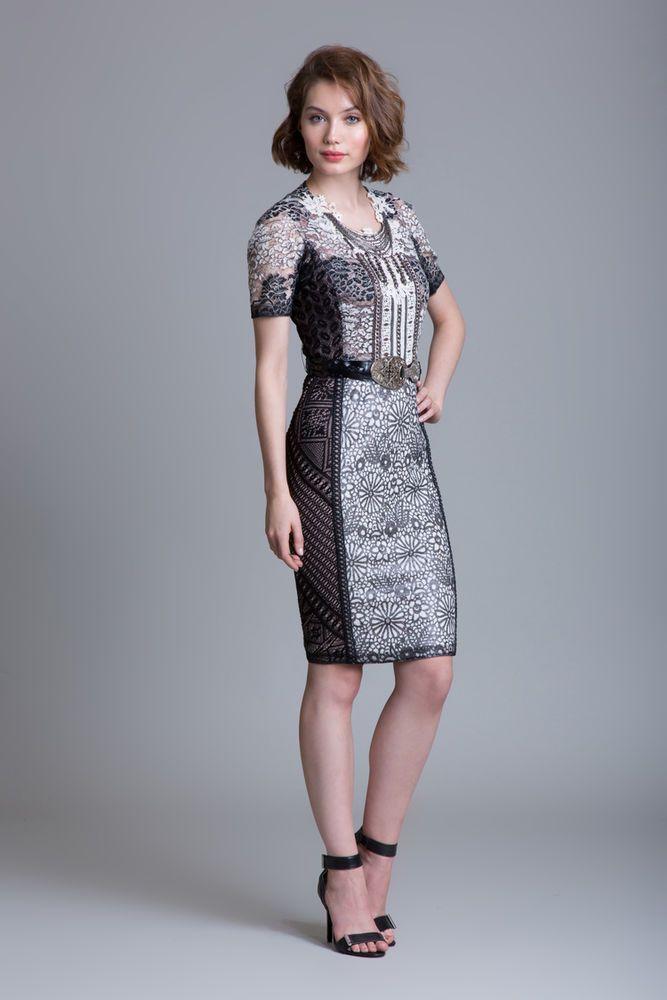 Lace sheath dress cocktail