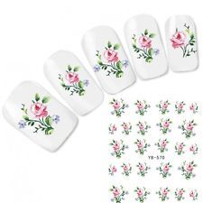 Tattoo Flower Nail Art Aufkleber Rose Nagel Sticker Fuß Water Decal