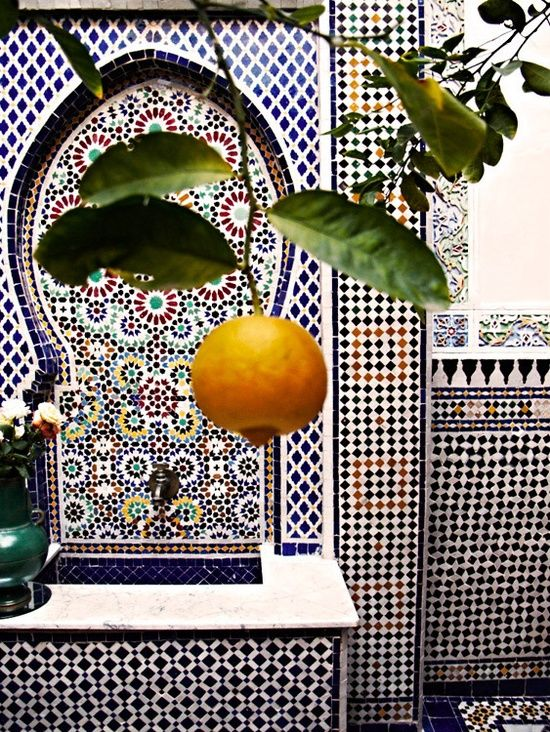 chadalogy:  Morocco , Interior of a moroccan house