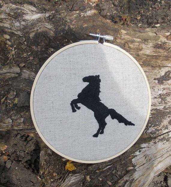 Hoop art wall hanging wall decor embroidered canvas by embroidream, $22.00