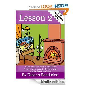 Teach your child to write a treble clef with this funny story!