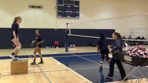 Hitting Footwork Drill - Silvia Johnson - Metro Volleyball Club