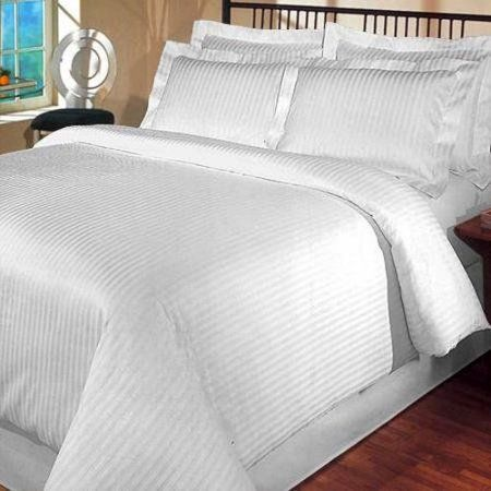 400 thread count egyptian cotton king california king duvet cover set stripe white