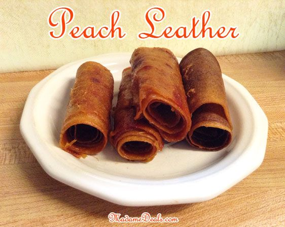 Healthy Snacks Recipes for Kids: Peach Leather
