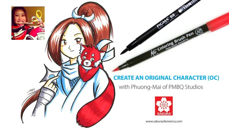 Interested in making your own manga-style OCs (original characters) but not sure how to get started? Then this tutorial from Phuong Mai Bui Quang of PMBQ Studios is for you. Mai gives the definition of OCs, talks about how to create a backstory, costume design, and then goes into the inking and coloring of her own OCs using Pigma Professional Brush pens and Koi Coloring Brush Pens. Create your own OC and share it on Instagram or Deviant Art where there's a thriving community of OC artists!