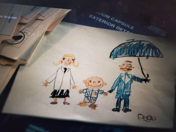 Umbrella Academy S2 (Pogo's Drawing) | Dibujos simples ...