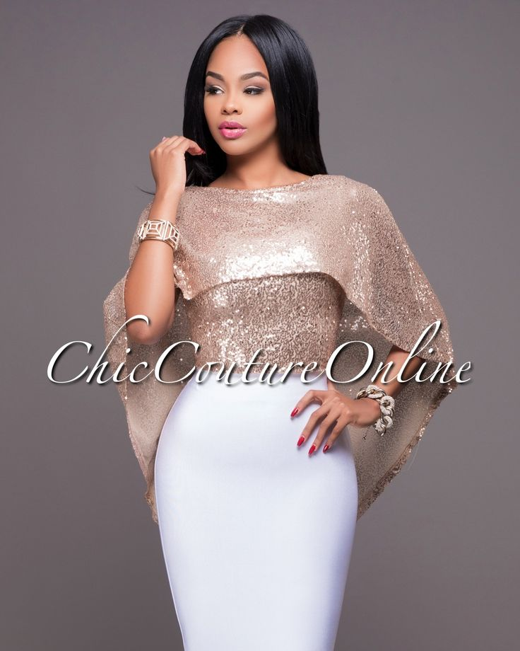 Chic Couture Online - Everly Blush Gold  Sequins Cape Top.(http://www.chiccoutureonline.com/everly-blush-gold-sequins-cape-top/)
