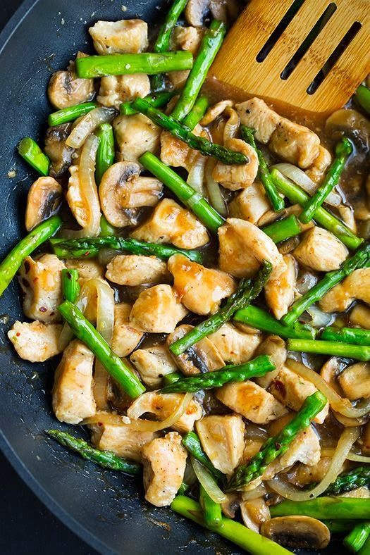 Ginger Chicken Stir-Fry with Asparagus | Best Recipes for Dinner