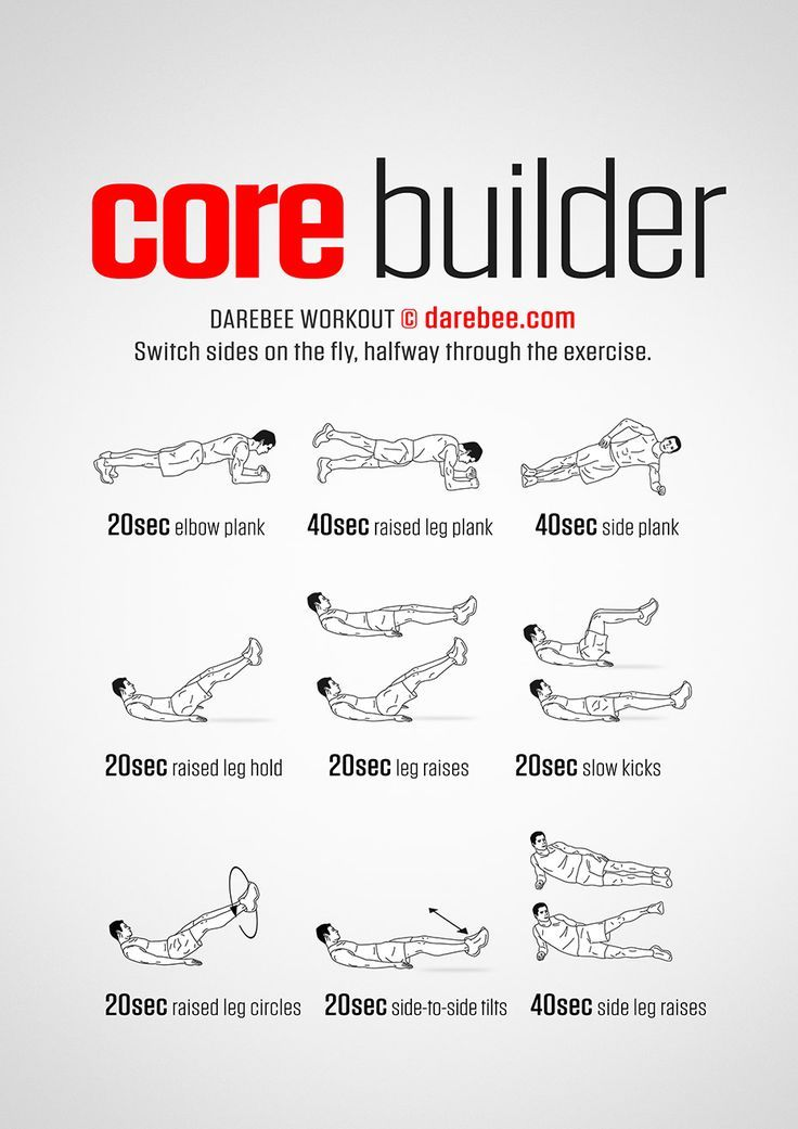 Core Builder Training At Home Core Workout Core Exercises