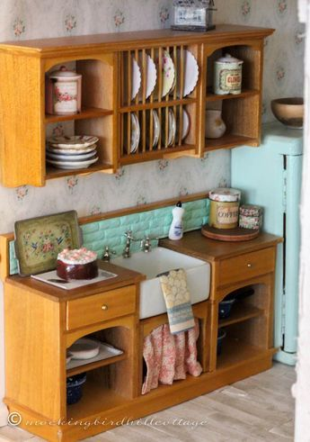 Who, What, Where, Dollhouse Kitchen - Everything you need to know about where I found everything and how I did it.