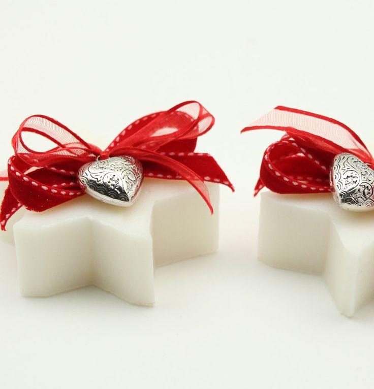 Sapone Stella Cuore Barocco Rosso - Sapone Decorato Natale - Saponi - Prodotti