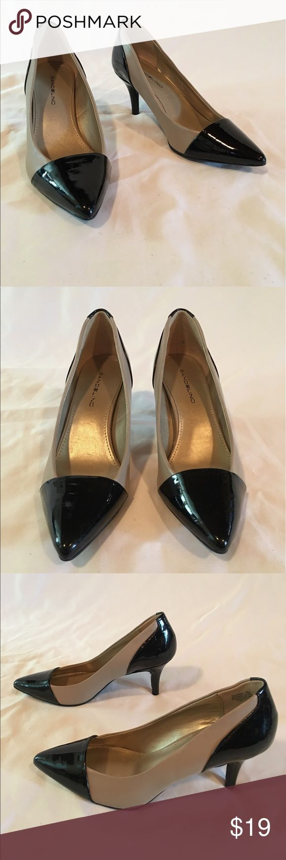 Bandolino Black Toe & Heels Beige Pumps Size 7 Bandolino Black Toe & Heels Beige Pump Heels Size 7 Bandolino Shoes Heels