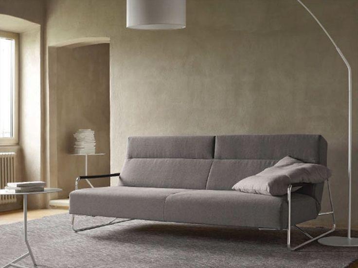 Divano letto in tessuto con poggiatesta JANUS by ROSET ITALIA | design Pascal Mourgue  : L 204cm P 115-140cm A 50-95cm As 39cm