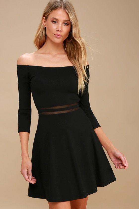 Yes To The Mesh Black Skater Dress Fashion Pinterest Dresses