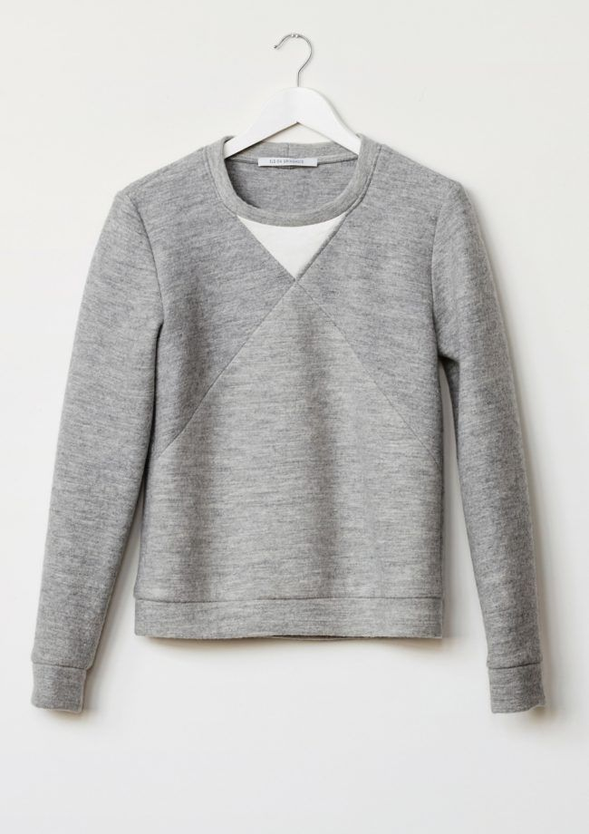 Elsien Gringhuis - Grey Fair Wool Sweater - sustainable luxury fashion