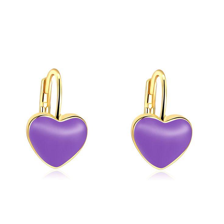 Fashion Trendy Jewelry Charming Gold Earrings For Women Romantic Heart Shape Stud Earrings Minimalist Famale Cute Ears Studs #Affiliate