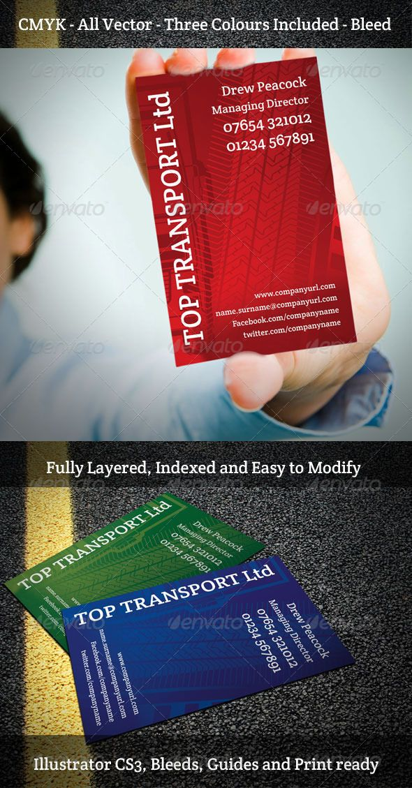 Transport Company Business Card