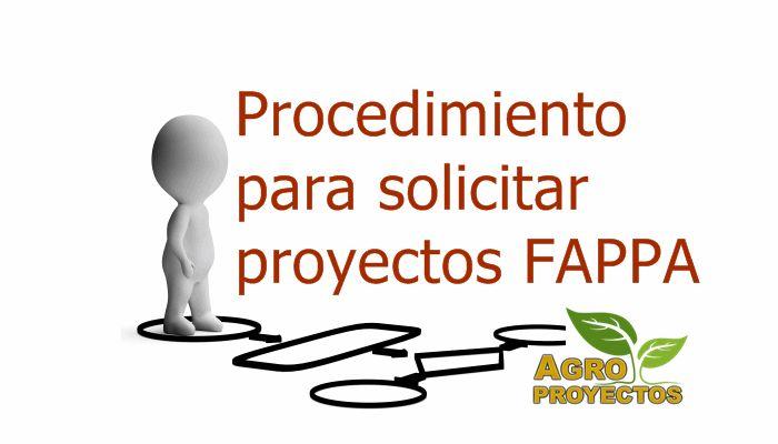 Procedimiento para solicitar Proyectos Productivos FAPPA