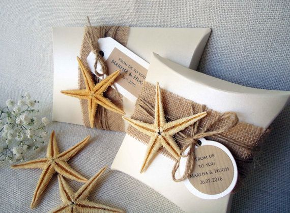 Gift Boxes Wedding Favor Boxes Beach Boxes Party by PaperStudioByC