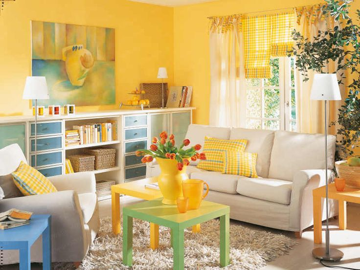 Living Room Yellow Walls Decorating Ideas